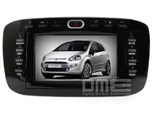 DME FEV06 Autoradio à écran tactile DVD GPS Changeur CD Virtuel USB SB Blue and Me pour Fiat Punto EVO