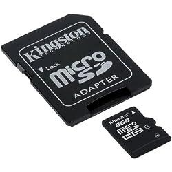 Kingston SDC4/16GB - Tarjeta de memoria micro SDHC de 16 GB (4 MB/s), negro