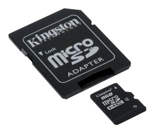 Kingston SDC4/8GB, Tarjeta micro SDHC de 8 GB, Negro