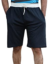 ELK Mens's Black Cotton Shorts Trouser Clothing Set