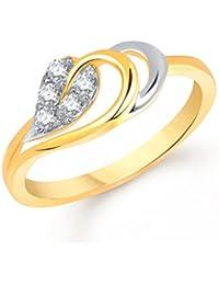 V. K. Jewels Decent Leaf Gold And Rhodium Plated Ring For Women - Fr1418G [Vkfr1418G]