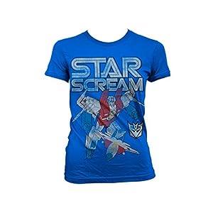Transformers - T-shirt - Manches Courtes - Femme -  bleu - X-Large
