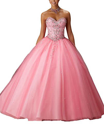 Bridal_Mall - Robe - ball gown - Femme Rose bonbon