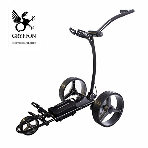 Elektro Golf Trolley GRYFFON Basic anthrazit, silber oder weiß mit Lithium Akku / Elektro Caddy Golf / Elektro Trolley Test