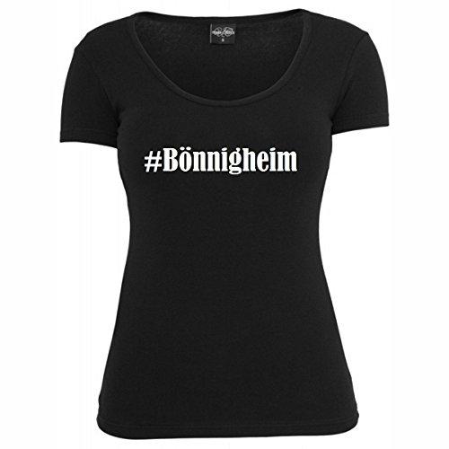 T-Shirt #Bönnigheim Hashtag Raute für Damen Herren und Kinder ... in den Farben Schwarz und Weiss Schwarz