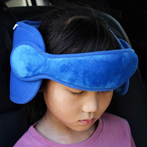 FREEOO Kopfstütze Kopfstützhalter für Kinder Nackenstützen Kindersitz Befestigung Einstellbare Laufställe Auto Schlafkissen