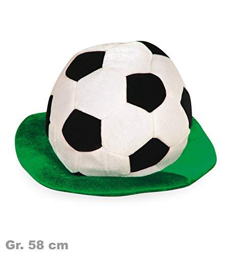 Fussball Hut mit Rasen Fan - Fußball Fan Kostüm