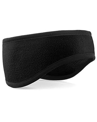 Beechfield B240 Suprafleece Contrast Aspen Headband Black Small / Medium