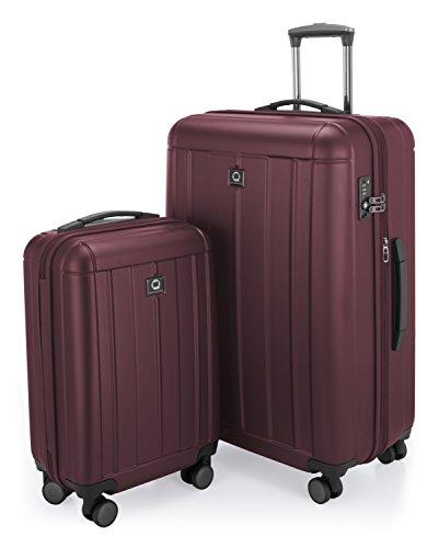 HAUPTSTADTKOFFER - Kotti - Set 2 Bagagli Rigidi, valigia grande e cabina (S & L), Borgogna