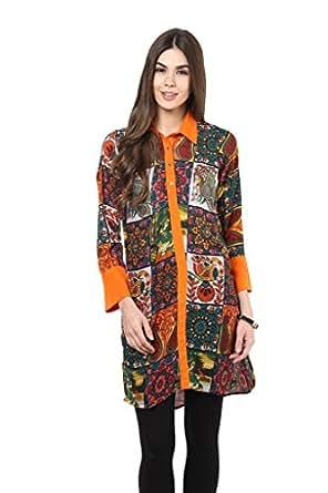 La Firangi Block multicolor printed shirt kurti