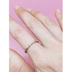 Ring mit geometrischer Textur und Profil in Messing oder Silber