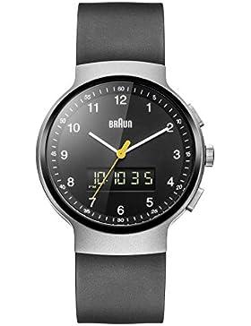 Braun Herren-Armbanduhr Analog - Digital Quarz Kautschuk - BN0159SLBKBKG