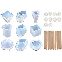 XDLink – Lote de 8 moldes para creación de Joyas de Resina, Molde de Silicona