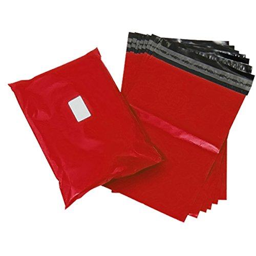 triplast 14x 50,8cm–Bolsa de plástico para envíos postales (200unidades), color rojo