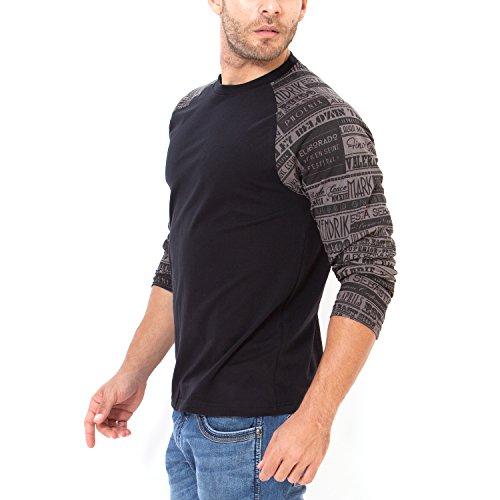 Elaborado Men's T-Shirt, Black, Medium, EAIS5032BL2