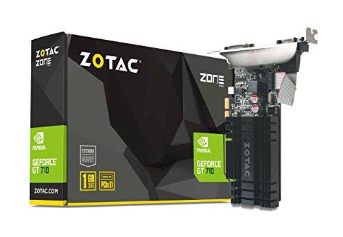 Zotac ZT-71304-20L GeForce GT 710 1GB GDDR3 - Tarjeta gráfica (NVIDIA, GeForce GT 710, 2560 x 1600 Pixeles, 954 MHz, 2048 x 1536 Pixeles, 2560 x 1600 Pixeles)