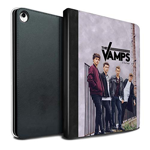 The Vamps PU Pelle Custodia/Cover/Caso Libro per Apple iPad PRO 12.9 2018/3rd Gen Tablet/Album Servizio Fotografico Disegno