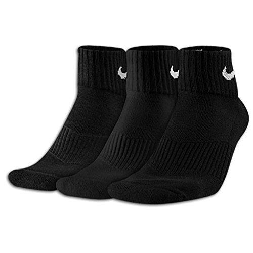 Nike Damen Performance Gepolsterte Quarter Socken 3Paar Größe M 6-10 (Nike Performance Socken Gepolstert)