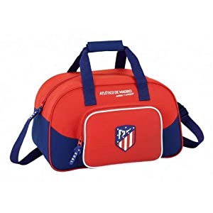 Safta Bolsa De Deporte Atlético De Madrid «Coraje» Oficial 400x230x240mm
