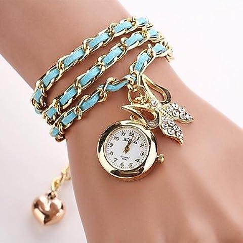 Relojes de cuarzo pulsera de arco de las mujeres (colores surtidos) c&d-131 ( Color : Azul marinero