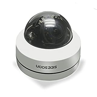 960P IP Camera, Dome Security Camera with 3.6MM Lens, IP66 Waterproof, Motion Detection Alarm,15 Meter Night Vision Support 128GB Micro SD (R-MQ203E)