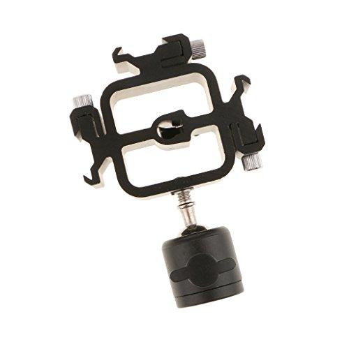 MagiDeal Kamera Speedlite Mount Halter Hot Shoe Mount Adapter Blitzständer Halterung Drei Einstellbar Blitzschuh Adapter mit Kugelkopf für Canon Nikon Olympus Pentax Blitzgerät -