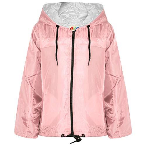 A2Z 4 Kids® Filles Garçons Pluie Manteau Rosé Bébé Vestes - Raincoat Jacket 449 Baby Pink_9-10