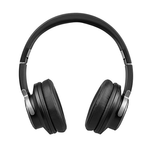 MEDION LIFE E62113 MD 43621 Bluetooth Kopfhörer, Bluetooth 4.0, NFC, Qualcomm aptX audio, Freisprechfunktion, UKW Radio, X-Bass Funktion, schwarz