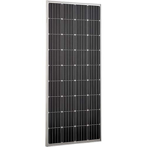 ECTIVE 12V 160W Monokristallines Solarmodul mit 36 Zellen Solarpanel mit Sicherheitsglasplatte in 6 Varianten 50-160 Watt