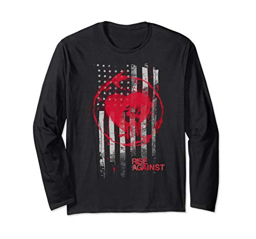 Rise Against- Stained Flag -Official Merchandise Langarmshirt -
