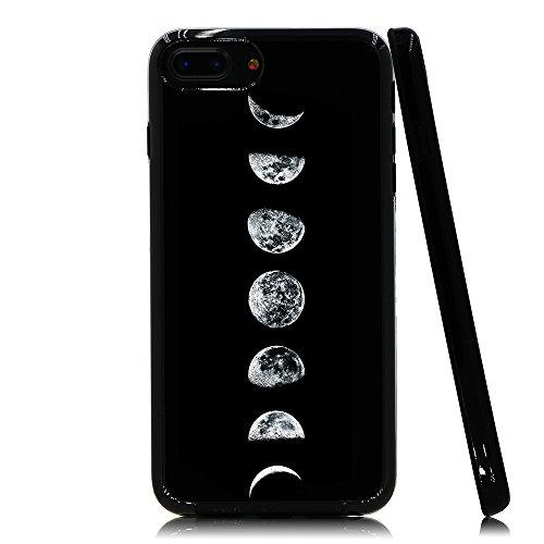 lartin weicher Flexibler Jellybean Gel TPU Fall für iPhone 8Plus/iPhone 7Plus/iPhone 6S Plus/iPhone 6Plus, Moon Phases (I Phone 6 Fällen Cheetah)