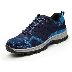 Zapatillas de Seguridad para Hombre Mujer Antideslizante Calzado de Trabajo para Ligeras Comodas 35-46