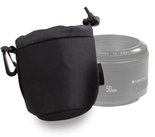 DURAGADGET Funda / Bolsa Para Lente Canon EF 50mm f/1.4 USM-Tamaño pe