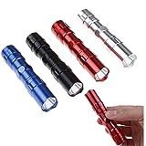 Gamloious 1PC Schwarz LED-Taschenlampe super helle wasserdichte Hand Taschenlampen-Aluminiumlegierung Taschenlampe Pocket Arbeits-Licht für Notbeleuchtung