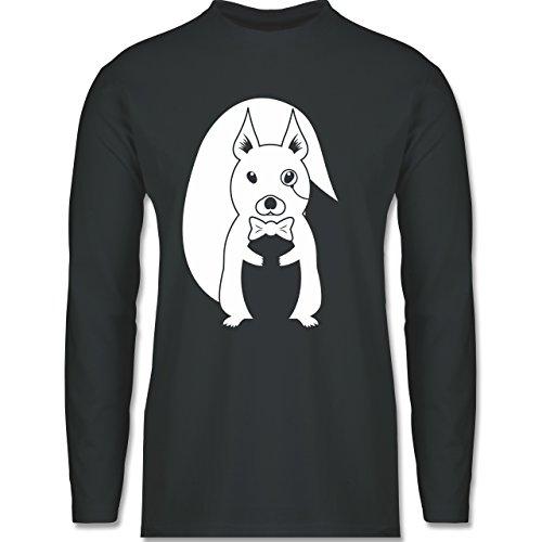 Hipster - Hipster Eichhörnchen - Longsleeve / langärmeliges T-Shirt für  Herren Anthrazit
