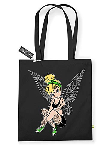 Inkerbell Twisted Tattoo Unisex Damen Herren Shopper Henkeltasche (Und Sally Jack Tattoos)