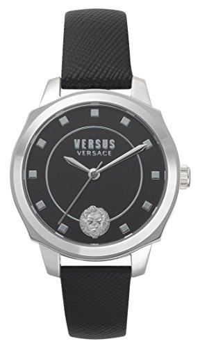 Versus by Versace Femme Analogique Quartz Montre avec Bracelet en Cuir VSP510118