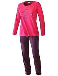 Damen Pyjama lang langarm Schlafanzug Damen lang Damen Schlafanzug langarm aus 100% Baumwolle