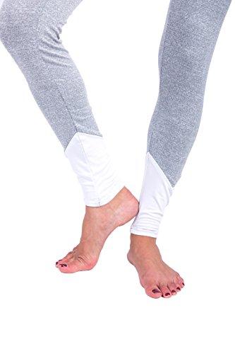 XWXW Plus Size Delle Donne Leggings Di Fitness Allenamento Pantaloni A Vita Alta Leggings Sportivi Ad Asciugatura Rapida WHITE-3042