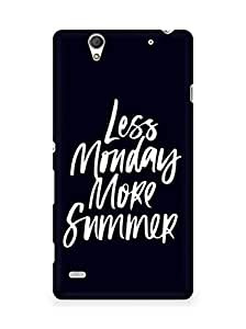 AMEZ less monday more summer Back Cover For Sony Xperia C4