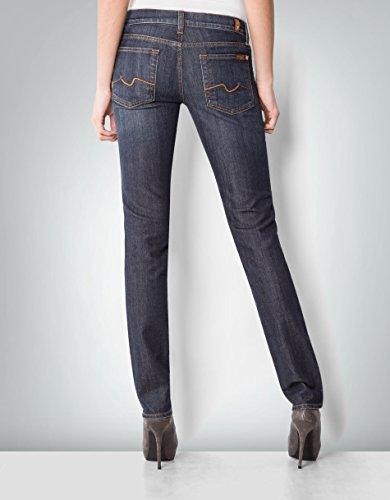 7 For All Mankind Damen Jeans Baum Wolle Denim-Hose Unifarben, Größe: 32, Farbe: Blau