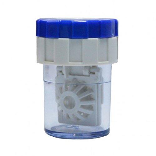 Kontaktlinsenbehälter mit Körbchen - Waschmaschine für Kontaktlinsen - blau/weiß