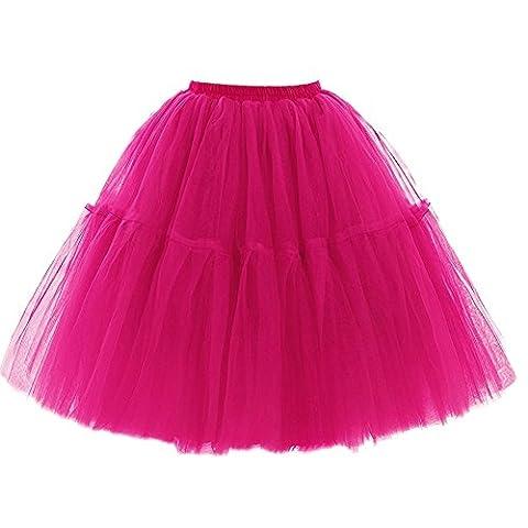 SCFL Adult Ballet Tutu Layered Organza Lace Mini Skirt Women's