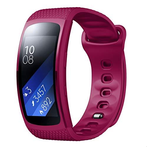 Yayuu Gear Fit 2 Pro/Fit 2 Correa de Reloj, Reemplazo de Banda de Silicona Suave Deportiva Pulsera de Repuesto para Samsung Gear Fit 2 Pro SM-R365 and Gear Fit 2 SM-R360 Smart Watch