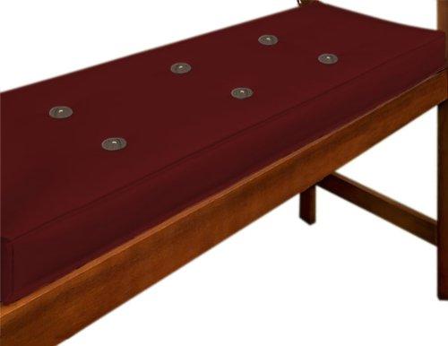 Detex Bankauflage  Wasserabweisend  Extradick  110cm - Sitzkissen Sitzauflage Sitzpolster Bankpolster Auflage - Farbwahl - Rot