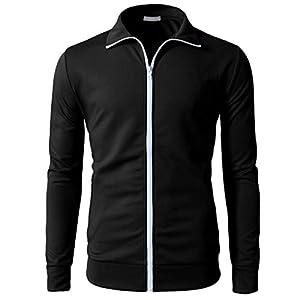 Oasics Mode Herren Hemd, Herbst und Winter lässig Reißverschluss warme Kapuzenjacke warmes M-3XL