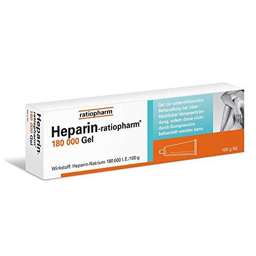 Heparin Ratiopharm 180.000 Gel, 100 g