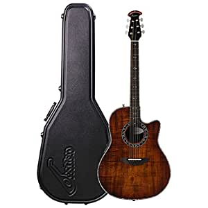 ovation legend plus premium grade koa top acoustic electric guitar with hard case. Black Bedroom Furniture Sets. Home Design Ideas