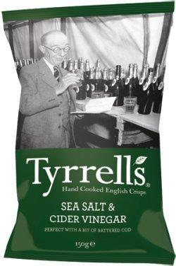 Tyrrells Sea Salt & Cider Vinegar Crisp 40g - CLF-TYR-40GCID by Tyrrells
