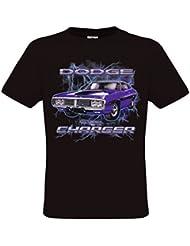 Ethno Designs Dodge Charger - T-Shirt voitures américaines muscle car pour Hommes - regular fit